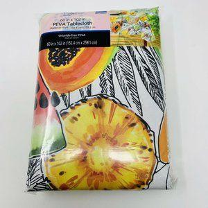 Mainstays Vinyl Tablecloth Fruit Theme 60X102